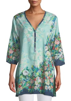 Johnny Was Aria Floral Button-Front Tunic