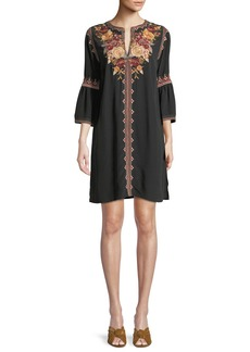 Johnny Was Artemis Flare-Sleeve Tunic Dress