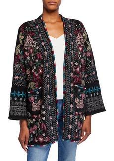 Johnny Was Aya Embroidered Knit Kimono