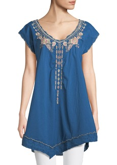 Johnny Was Bina Asymmetric Embroidered Tunic