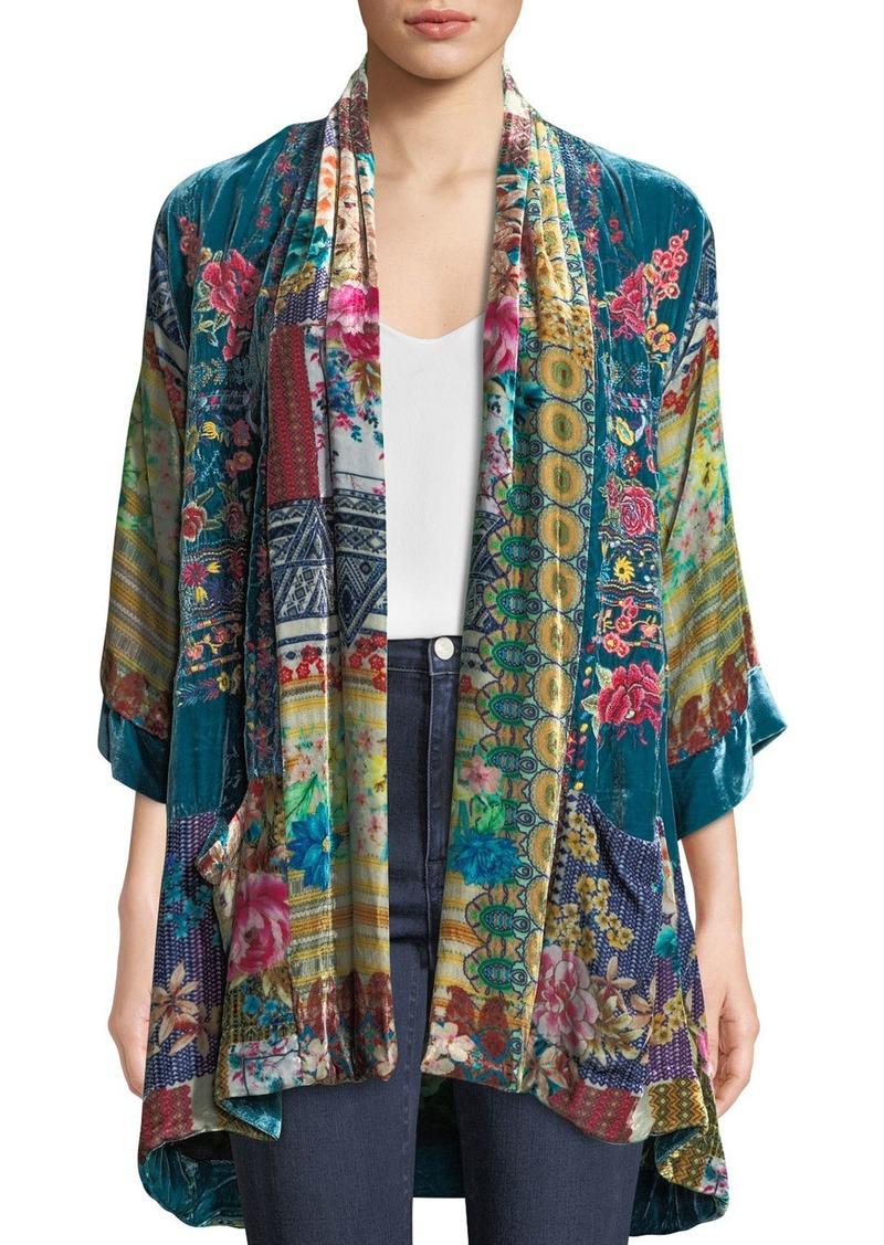 1eaaa3ee8cb Johnny Was Biza Printed Velvet Kimono Jacket