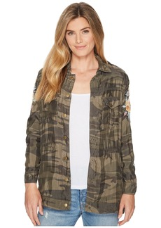 Johnny Was Brenna Drawstring Military Jacket