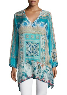 Johnny Was Chapman Long-Sleeve Printed Tunic