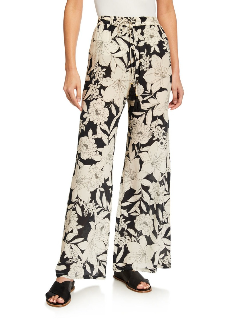 Johnny Was Clemence Floral-Print Easy Pants