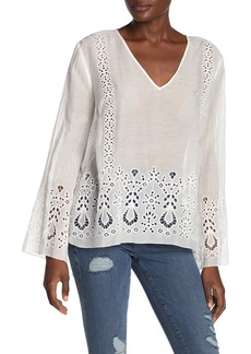 Johnny Was Colette Eyelet Embroidered Top