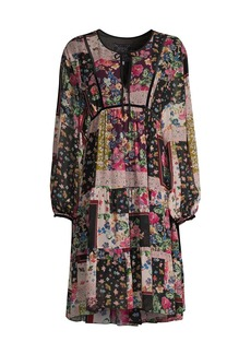 Johnny Was Cruces Printed Midi Dress