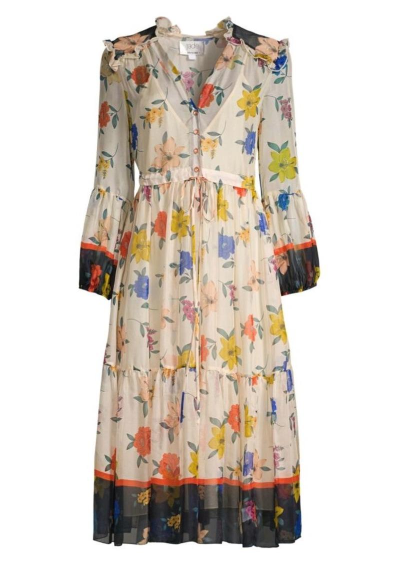 Johnny Was Daniela Floral Silk Chiffon Dress