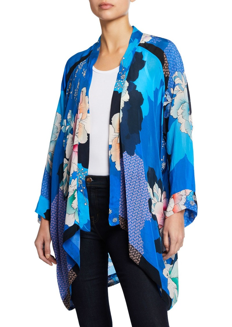 d7482d696f9 Johnny Was Dolce Long-Sleeve Floral-Print Georgette Kimono | Outerwear