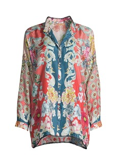 Johnny Was Dusk Button-Up Blouse