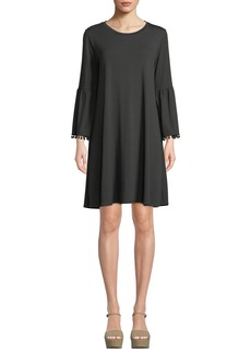 Johnny Was Fluted-Sleeve Swing Dress