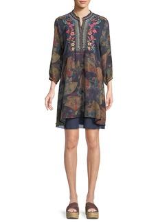 Johnny Was Fusai Floral-Print Tunic Dress
