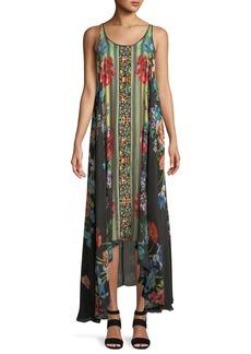 Johnny Was Garden Arch Sleeveless Georgette Dress