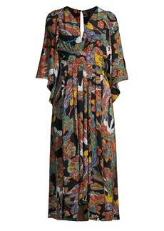 Johnny Was Gardenia Floral Midi Dress