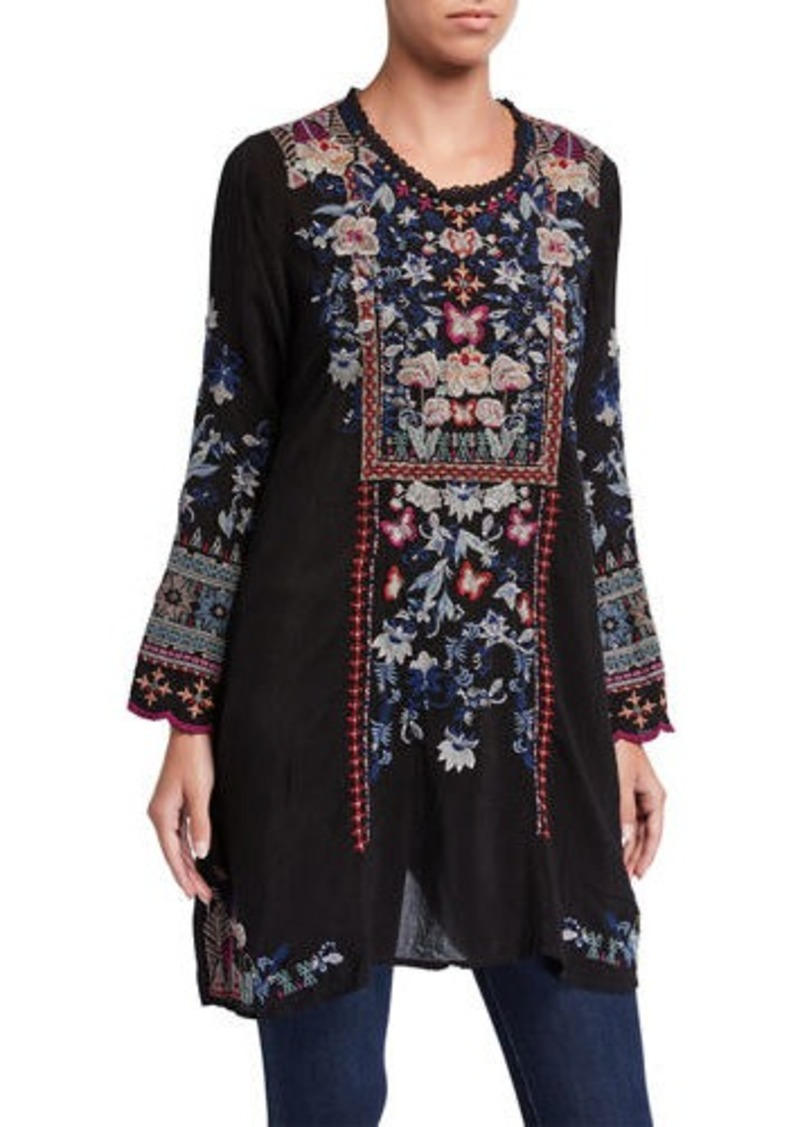 Johnny Was Gerona Embroidered Tunic Dress