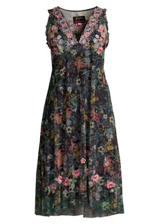 Johnny Was Giomi Floral Mesh Dress