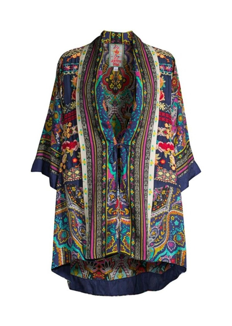 Johnny Was Hanna Printed Silk Kimono