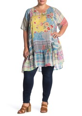 Johnny Was Happy Floral Print Woven Tunic (Plus Size)