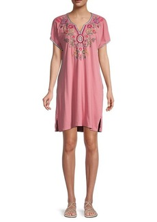 Johnny Was Hulda Easy Embroidery Tunic Dress