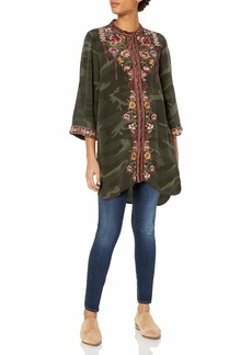 Johnny Was 3J Workshop Women's Embroidered Kimono Sleeve Tunic  M