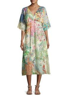 Johnny Was Alyssa Kimono Midi Dress