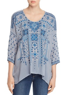 Johnny Was Amaru Embroidered Blouse
