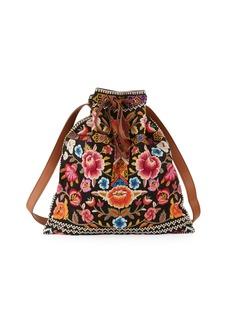 Johnny Was Anaya Embroidered Drawstring Tote Bag