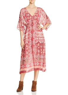 Johnny Was Cardinal Printed Midi Dress
