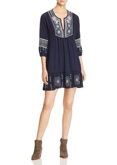 Johnny Was Ciro Embroidered Boho Dress