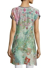 Johnny Was Alyssa Short-Sleeve Printed Tunic