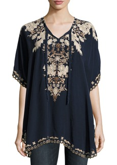 Johnny Was Egypt Embroidered Eyelet Poncho