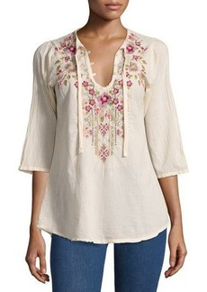 Johnny Was Fabio Embroidered Blouse