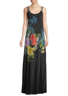Johnny Was Fusion Sleeveless Floral-Print Maxi Dress
