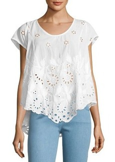 Johnny Was Jen Eyelet Flair Blouse