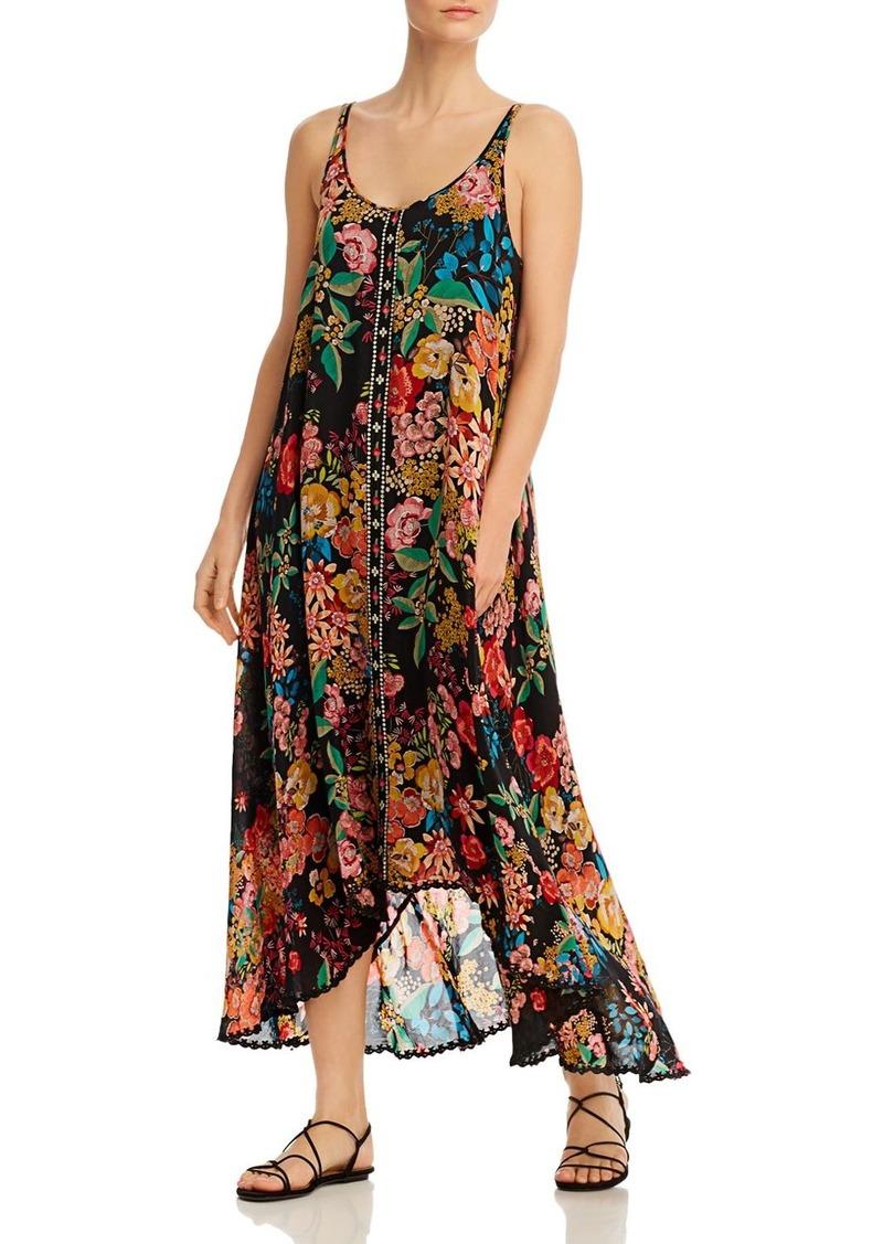 Johnny Was Logan Sleeveless Floral-Print Maxi Dress