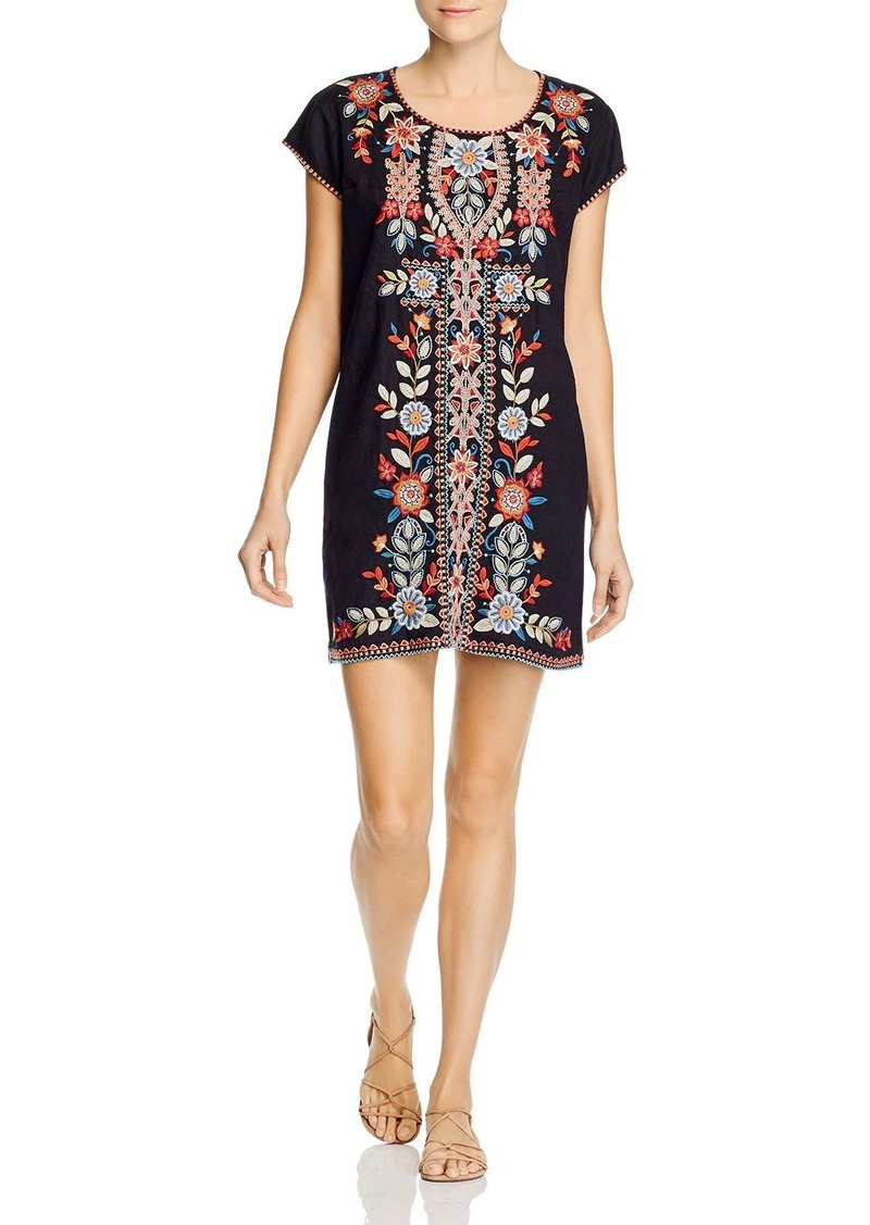 Johnny Was Maisie Embroidered Shift Dress