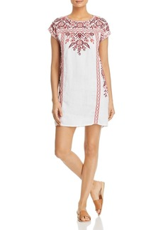 Johnny Was Oranda Embroidered Tunic Dress