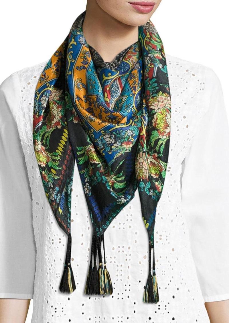 johnny was johnny was sathya printed silk scarf misc