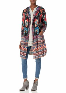 Johnny Was Women's Cotton and Cashmere Blend Printed Sweater  M