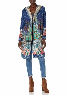 Johnny Was Women's Cotton Cashmere Printed Hooded Cardigan