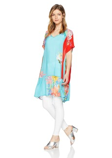 Johnny Was Women's Patterned Rayon V-Neck Tunic  M