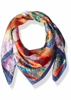 Johnny Was Women's Patterned Silk Square Scarf with Tassels multi O/S