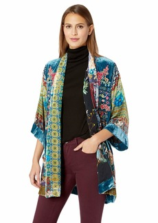 Johnny Was Women's Printed Kimono with Embroidery  S