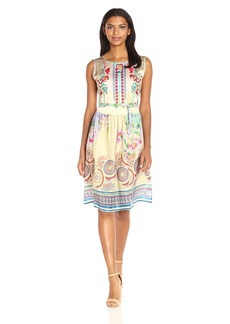 Johnny Was Women's Voncille Embroidered Print Dress  XL
