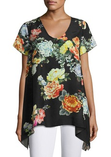 Johnny Was Ziara Printed Handkerchief-Hem Tunic