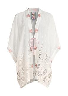 Johnny Was Kahlil Eyelet Embroidered Kimono
