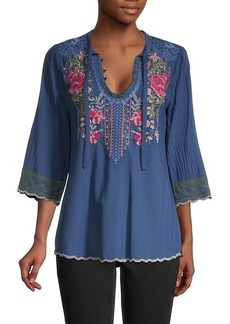 Johnny Was Millie Embroidered Blouse