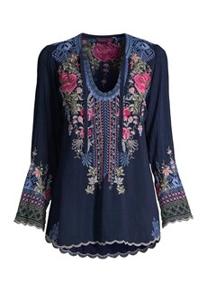 Johnny Was Millie Floral Embroidered Tunic