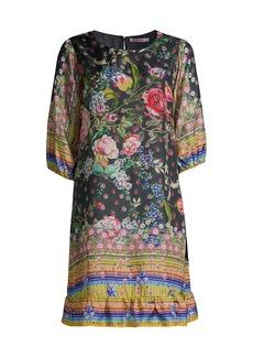 Johnny Was Naomi Wren Printed Silk Dress