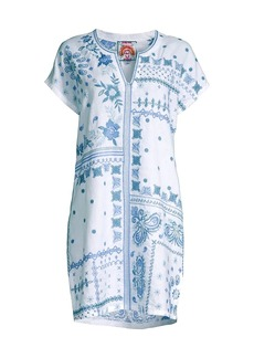 Johnny Was Nico Easy Floral Embroidered Tunic Dress