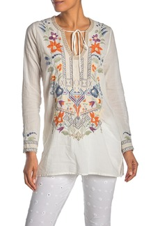 Johnny Was Oaklyn Embroidered Tunic Top